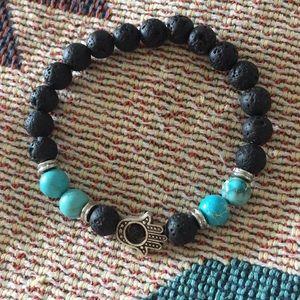 Organic volcanic aromatherapy bracelet